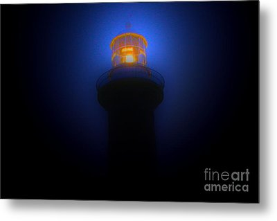 Lighthouse Glow Metal Print by Joanne Kocwin