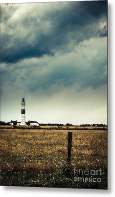 Lighthouse Of Kampen -vintage Metal Print by Hannes Cmarits