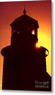 Lighthouse Sunset Metal Print by Joann Vitali