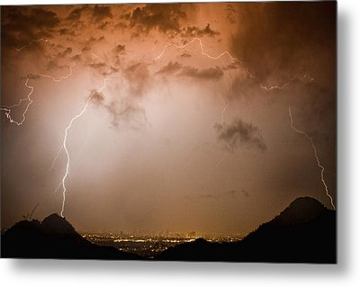 Lightning Dome Metal Print by James BO  Insogna
