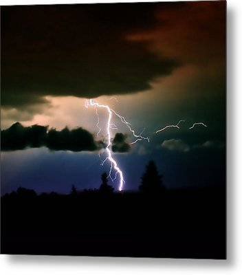 Lightning Over The Plains I Metal Print by Ellen Heaverlo