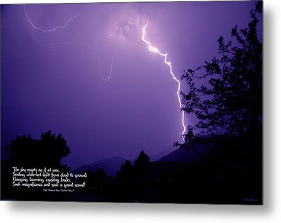 Lightning Over The Rogue Valley Metal Print by Mick Anderson