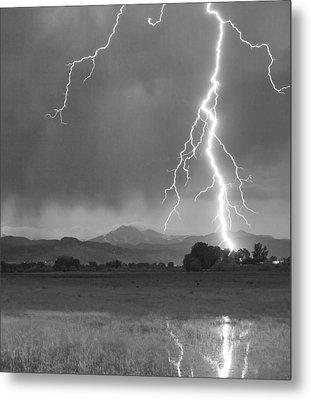 Lightning Striking Longs Peak Foothills 5bw Crop Metal Print by James BO  Insogna