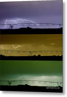 Lightning Warhol  Abstract Metal Print by James BO  Insogna