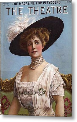 Lillian Russell On Cover Metal Print by Steve K