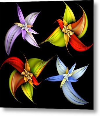 Lilly Montage Metal Print by Pam Blackstone