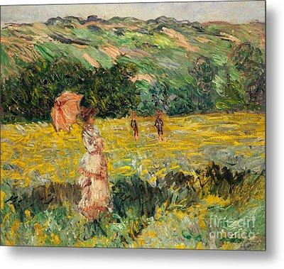 Limetz Meadow Metal Print by Claude Monet
