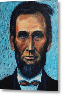 Lincoln Portrait #4 Metal Print by Daniel W Green