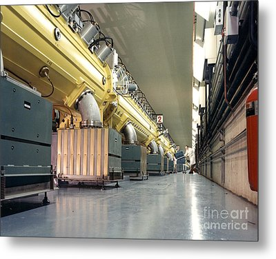 Linear Accelerator Linac Metal Print by Science Source