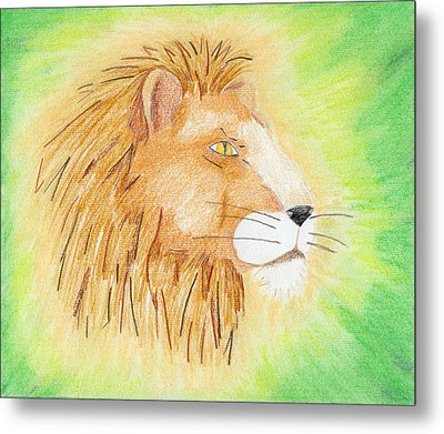 Lions Head Metal Print by Mark Schutter