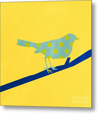Little Blue Bird Metal Print by Linda Woods
