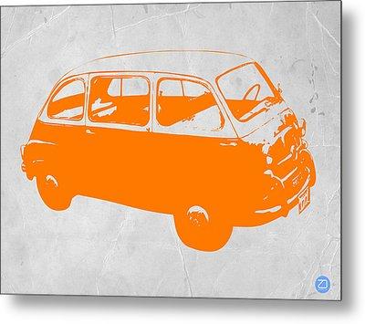 Little Bus Metal Print by Naxart Studio