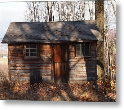 Little Cabin In The Woods Metal Print by Robert Margetts