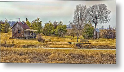 Little House On A Prairie Metal Print by Bill Tiepelman