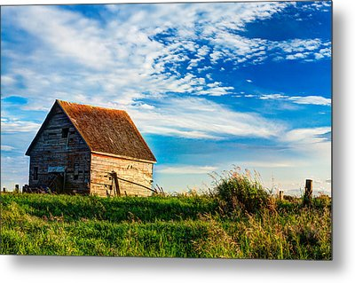 Little Shed On The Prairie Metal Print by Matt Dobson