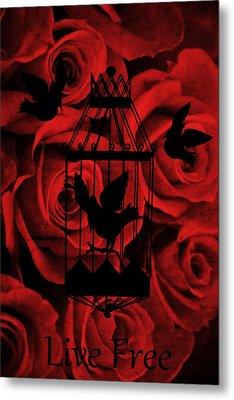 Live Free Metal Print by Angelina Vick