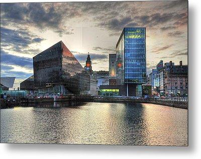 Liverpool After Dark Metal Print by Barry R Jones Jr