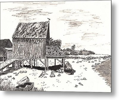 Lobster Traps Metal Print by Jimmy McAlister