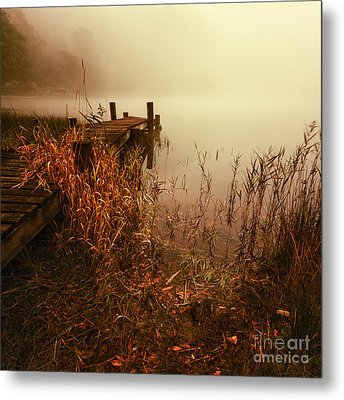 Loch Ard Early Mist  Metal Print by John Farnan