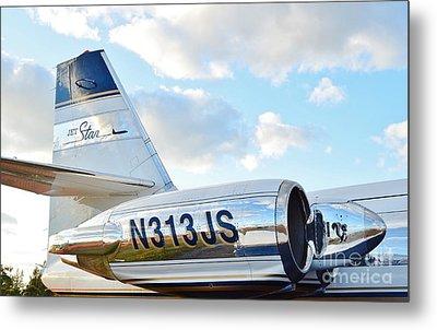 Lockheed Jet Star Metal Print by Lynda Dawson-Youngclaus