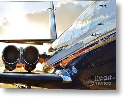 Lockheed Jet Star Side View Metal Print by Lynda Dawson-Youngclaus