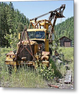 Logging Truck - Burke Idaho Ghost Town Metal Print by Daniel Hagerman