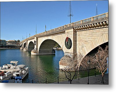 London Bridge Lake Havasu City - The World's Largest Antique Metal Print by Christine Till
