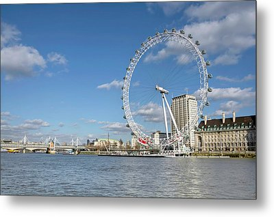 London Eye Metal Print by Paul Biris