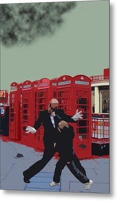 London Matrix Punching Mr Smith Metal Print by Jasna Buncic