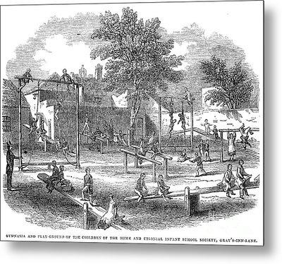 London Playground, 1843 Metal Print by Granger