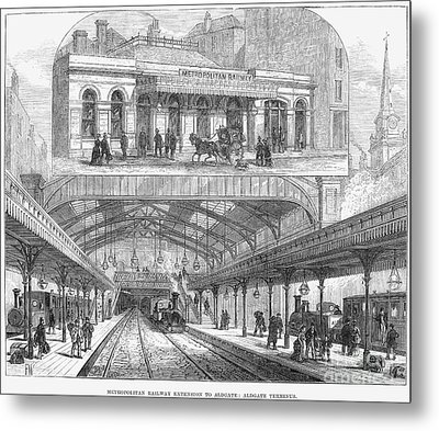 London: Railway, 1876 Metal Print by Granger