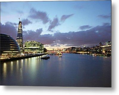London Skyline At Sunset Metal Print by Richard Newstead