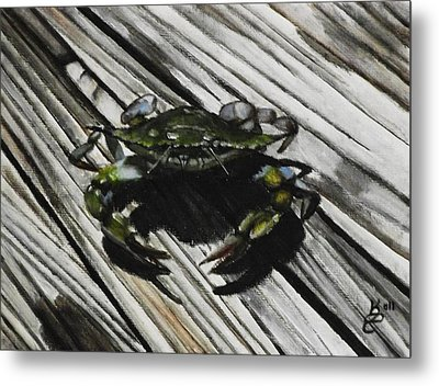Lonely Crab Metal Print by Kim Selig