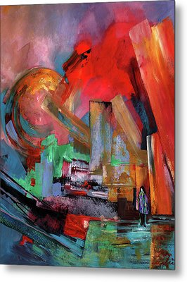 Lonely In The Big City Metal Print by Miki De Goodaboom