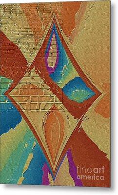 Look Behind The Brick Wall Metal Print by Deborah Benoit