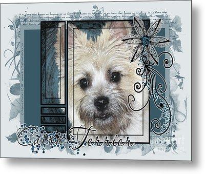 Look In Her Eyes - Cairn Terrier Metal Print by Renae Laughner