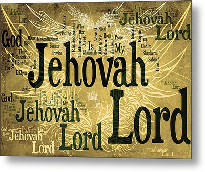 Lord Jehovah 2 Metal Print by Angelina Vick