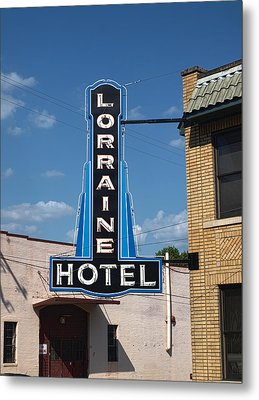 Lorraine Hotel Sign Metal Print by Joshua House