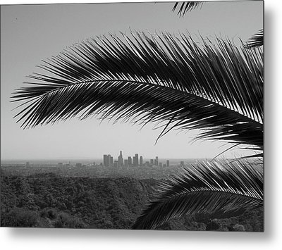 Los Angeles Skyline From Hollywood Hills Metal Print by Mike Shaffer