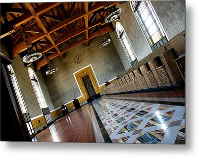 Los Angeles Union Station Terminal Metal Print by Jeff Lowe