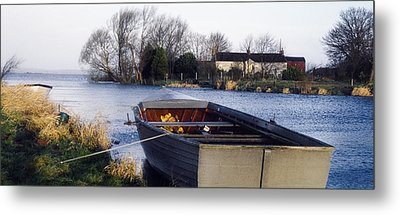 Lough Neagh, Co Antrim, Ireland Boat In Metal Print by Sici
