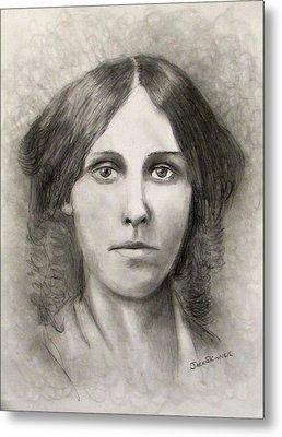 Louisa May Alcott Metal Print by Jack Skinner