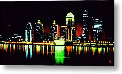 Louisville In Black Light Metal Print by Thomas Kolendra