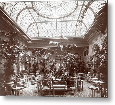 Lounge At The Plaza Hotel Metal Print by Henry Janeway Hardenbergh