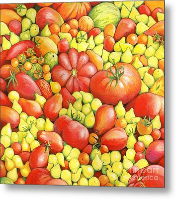 Love Apples ... Heirloom Tomatoes Metal Print by Susan A Walton