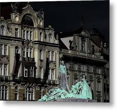 Love Each Other And Wish The Truth To Everyone - Jan Hus Prague Metal Print by Christine Till