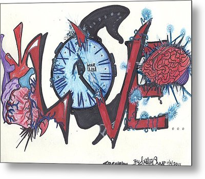 Love Metal Print by Justin Chase