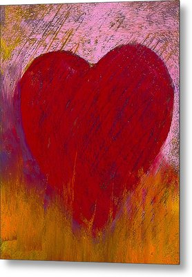 Love On Fire Metal Print by David Patterson