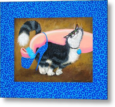 Love Pump Blue Metal Print by Baron Dixon