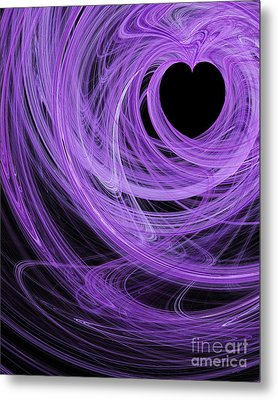 Love Swirls . A120423.689 Metal Print by Wingsdomain Art and Photography